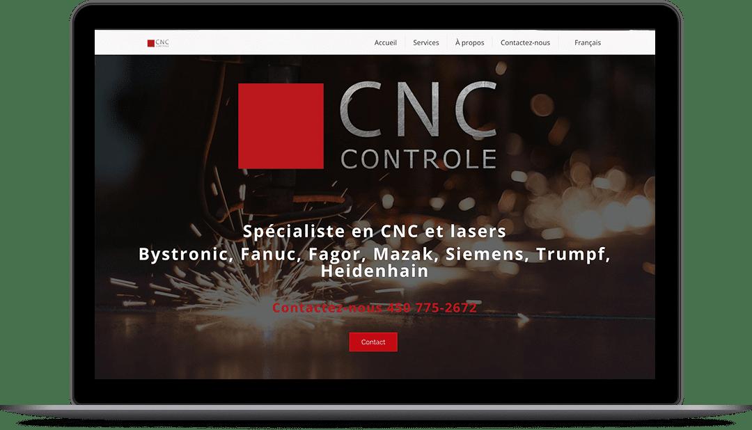 Création de site Web pour CNC Controle