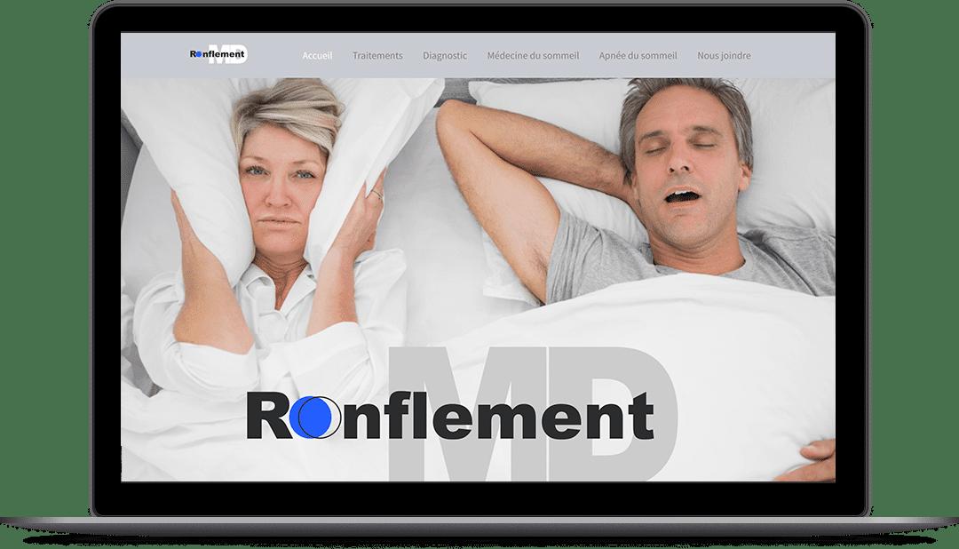 Création de site Web pour la clinique Ronflement MD