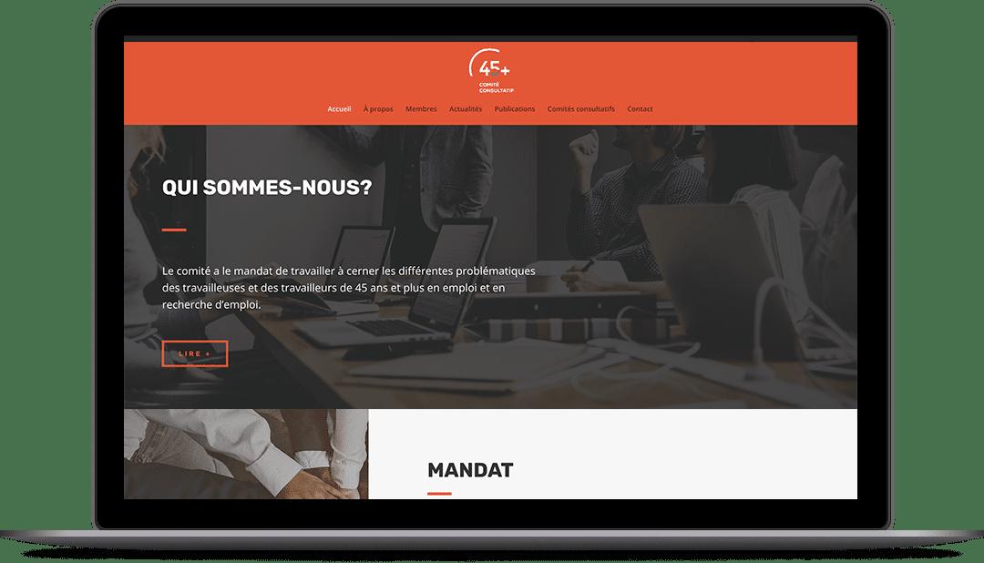 Site Web pour un regroupement de travailleurs