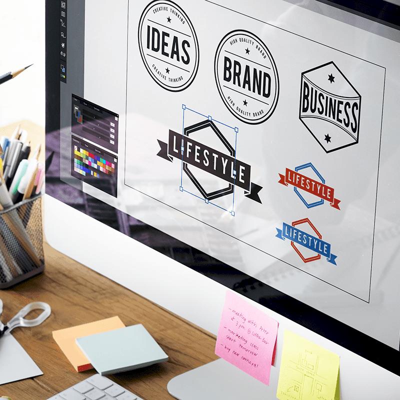 Création de logo et image de marque chez PF communications