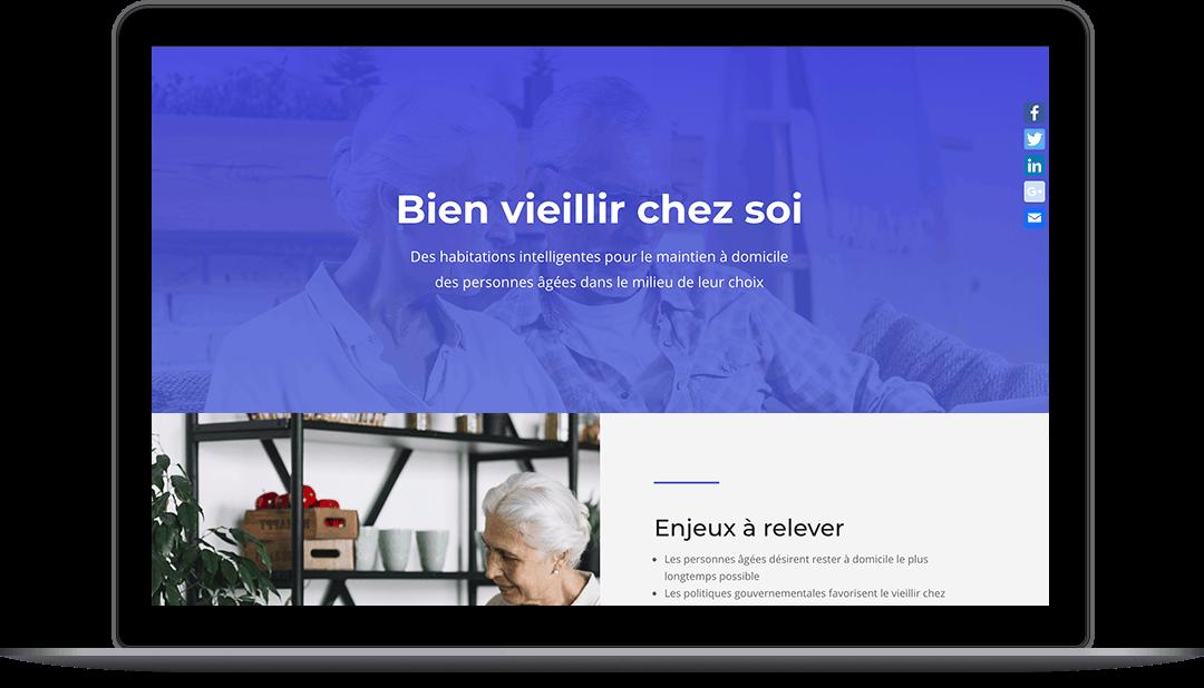 Site Web pour un consortium de recherche