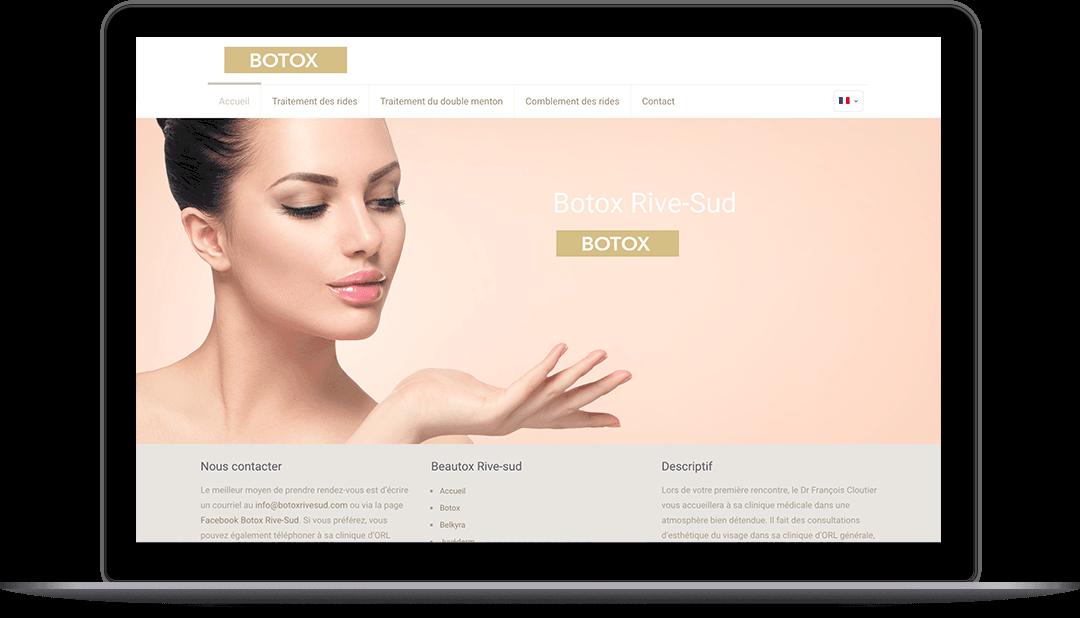 Site Web pour une clinique de botox