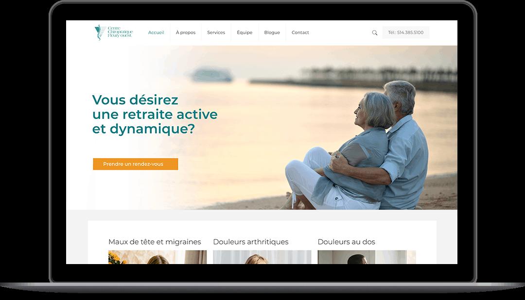 Site Web pour une clinique de chiropratique