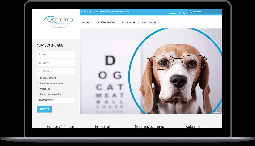 Site Web pour une clinique vétérinaire spécialisée