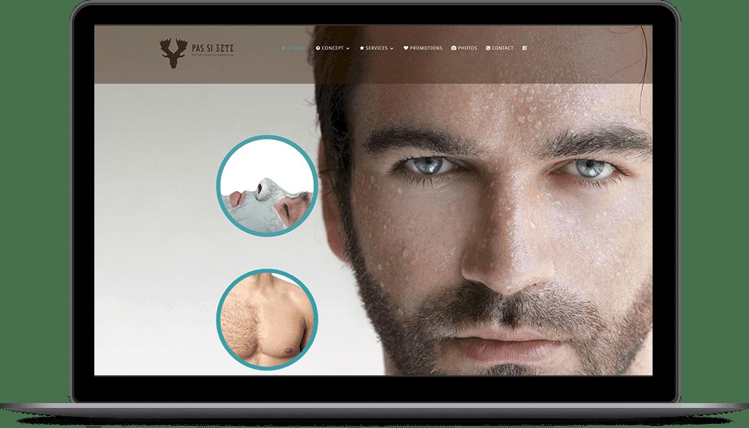 Site Web pour un centre d'esthétique pour hommes