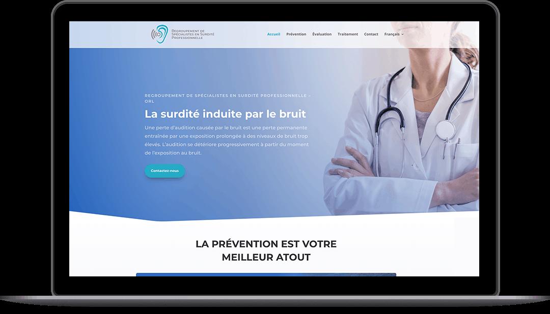 Site Web pour une clinique médicale
