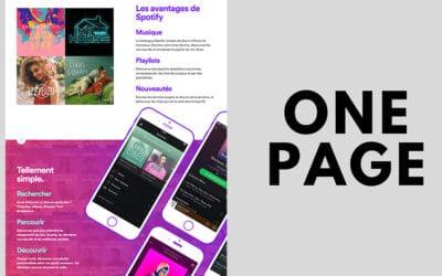 Sites One-page: Avantages et meilleures pratiques